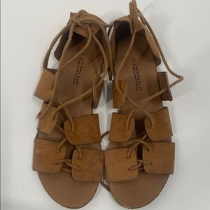 H&M divided faux suede Carmel strappy sand…